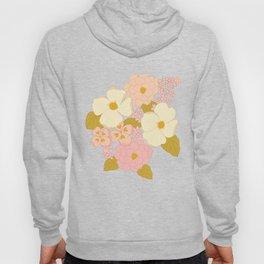 Pink Pastel Vintage Floral Pattern Hoody
