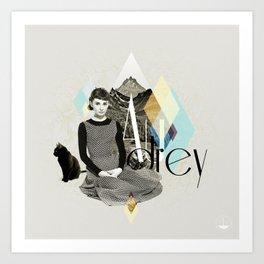 Divas: Audrey Hepburn. Art Print