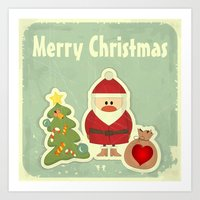 merry christmas Art Prints featuring Merry Christmas by Cs025