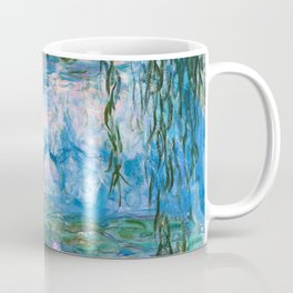 Water Lilies Monet Teal Coffee Mug