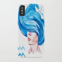aquarius iPhone & iPod Cases featuring Aquarius by Aloke Design