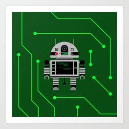Robot MJR-14 Art Print
