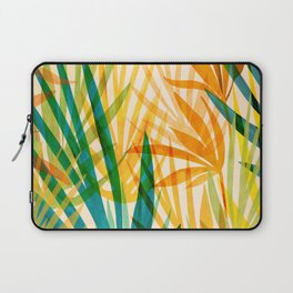 Golden Tropics / Abstract Tropical Illustration Laptop Sleeve