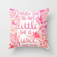 Little & Fierce – Pink Ombré Throw Pillow