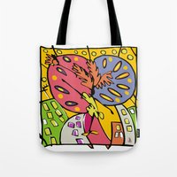 brasil Tote Bags featuring Brasil by Ana Sanz Durán