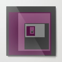 Purple Squares Metal Print