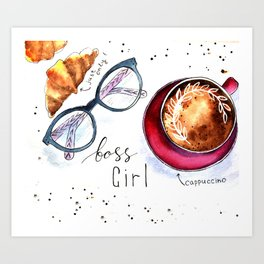 Boss girls rock! Art Print
