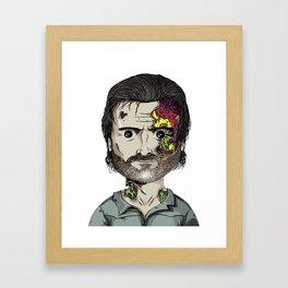 Rick Grimes The Walking Dead zombie portrait Framed Art Print