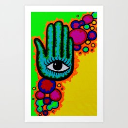Blind you with color Art Print