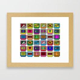 8-bit Game Cartridges Framed Art Print