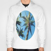 palm trees Hoodies featuring Palm Trees by Jillian Stanton
