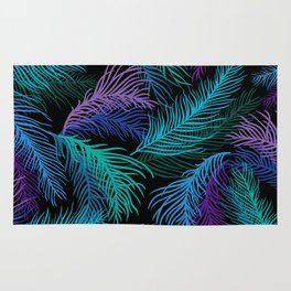 Multicolored palm leaves Rug
