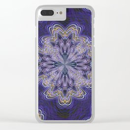 Flowery Shapes (Purple) Clear iPhone Case