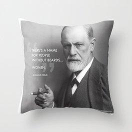 Sigmund Freud - Beards Throw Pillow