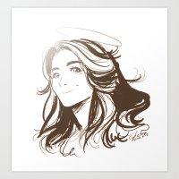 allison argent Art Prints featuring Allison Argent by littlecofiegirl