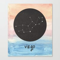 virgo Canvas Prints featuring Virgo by snaticky