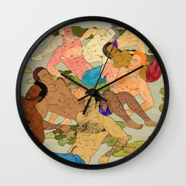 Sunbathers Wall Clock