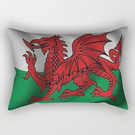 Y Ddraig Goch Welsh Flag Rectangular Pillow