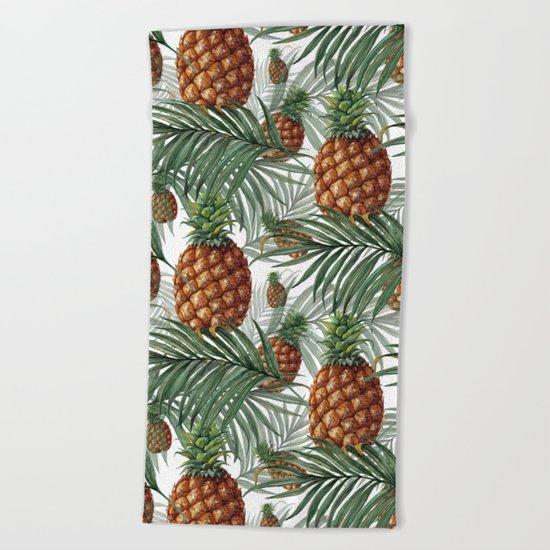 King Pineapple Beach Towel