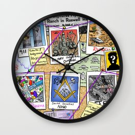 Conspiracy Theorist Wall Clock