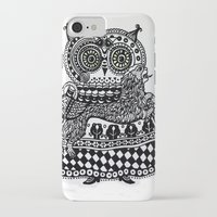 celtic iPhone & iPod Cases featuring Celtic owl by oxana zaika