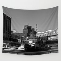 montreal Wall Tapestries featuring Old Port Montreal by Christophe Chiozzi