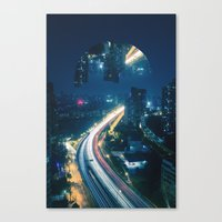 witchoria Canvas Prints featuring Somewhere Out There by witchoria