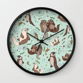Sea Otters Wall Clock
