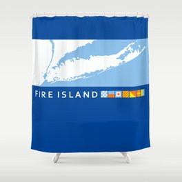 South Shore - Long Island. Shower Curtain