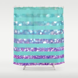 Tango Frost Stripes Shower Curtain