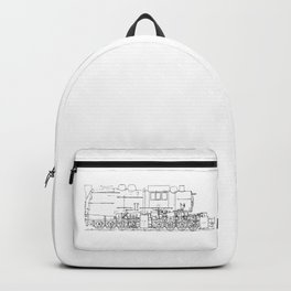 Sketchy train art Backpack