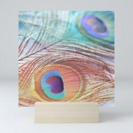 Pastel Boho Peacock Mini Art Print
