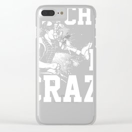 Pitches be crazy baseball softball shirt Clear iPhone Case