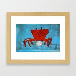 Ghetto Crabulous Framed Art Print