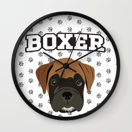 Boxer Love Wall Clock