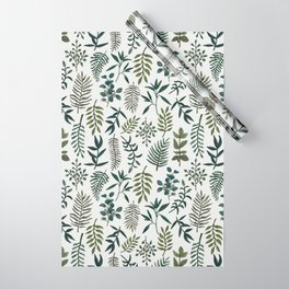 Fern Watercolor Pattern Wrapping Paper