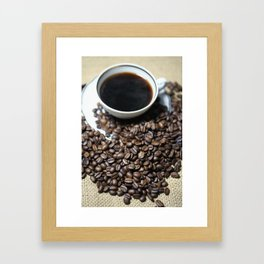 coffee cup Framed Art Print