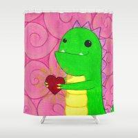 chuck Shower Curtains featuring Chuck by infiniteamethyst