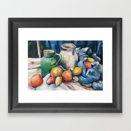Still not Cézanne Framed Art Print