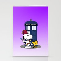 snoopy Stationery Cards featuring Snoopy Who by plasticdoughnut