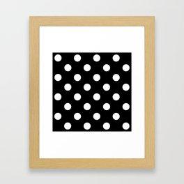 Polkadot (White & Black Pattern) Framed Art Print