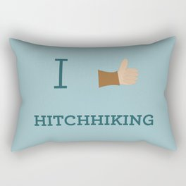 I heart Hitchhiking Rectangular Pillow