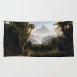 Thomas Cole The Garden of Eden Beach Towel