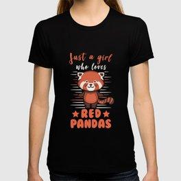 Red Panda Girl Red Panda Gift T-shirt