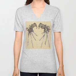Scissorhands(Antique) Unisex V-Neck