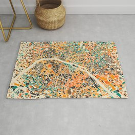 Paris mosaic map #3 Rug