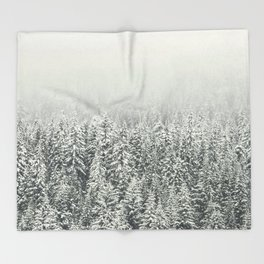 Snow Forest Throw Blanket