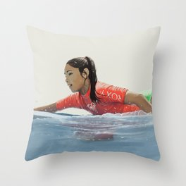 Roxy surf girl Throw Pillow