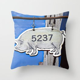 This Pig Might Fly Throw Pillow