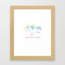 Sparkling Unicorn Framed Art Print